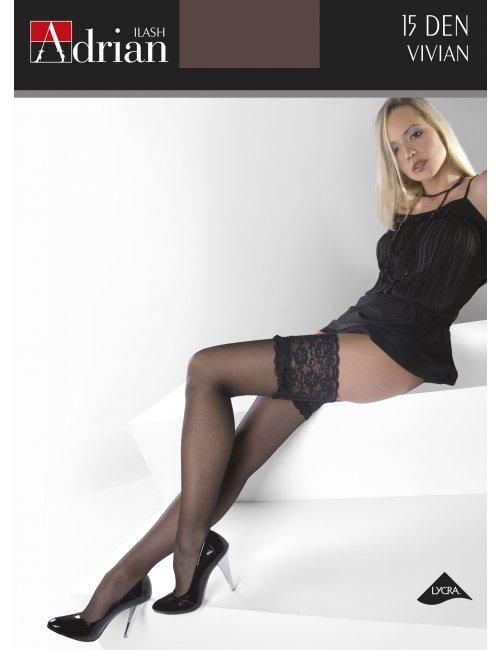 Women's self-hold stockings VIVIAN 15DEN Adrian