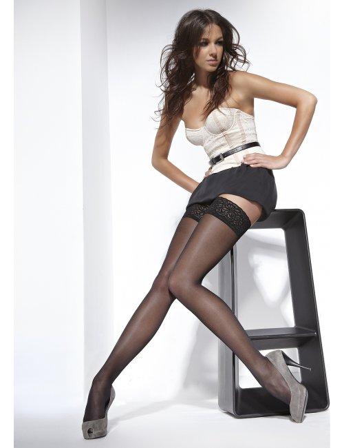 Women's self-hold stockings VIVIEN 40DEN BasBleu