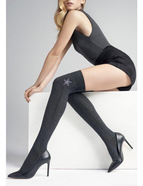 Over the knee socks with a star ZAZU N30 Marilyn
