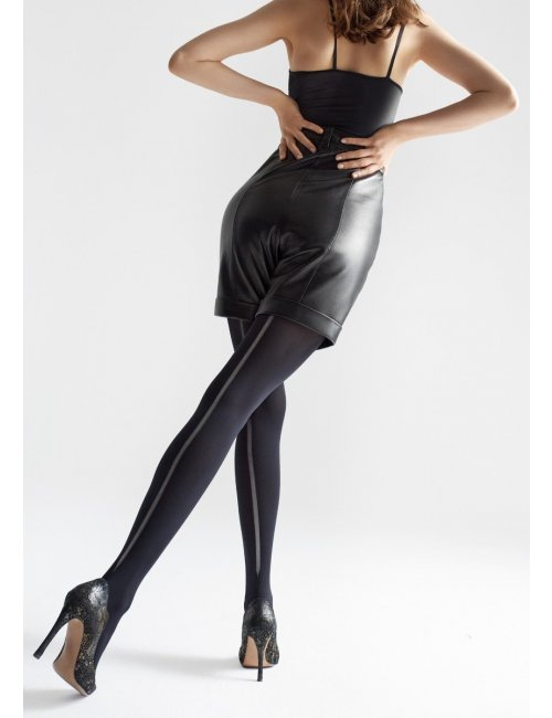 Women's thick stockings with a stripe ALLURE W08 60DEN Marilyn