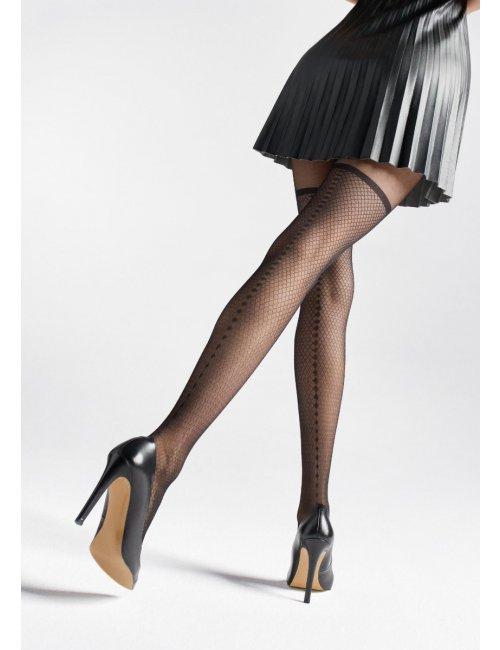 Women's patterned stockings ZAZU U10 20DEN Marilyn