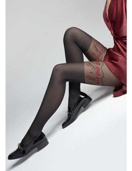 Women's patterned tights ZAZU S10 20/40DEN Marilyn