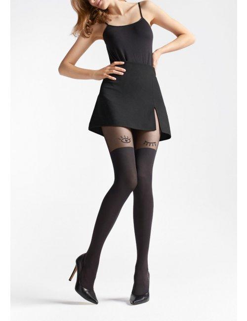 Women's patterned stockings ZAZU U07 20/60DEN Marilyn