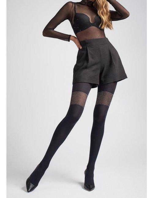 Women's patterned tights ZAZU T04 40DEN Marilyn